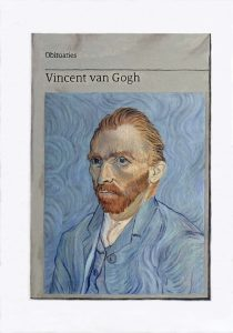 Hugh Mendes | Obituary: Vincent van Gogh | 2018 | Oil on linen | 35x25cm