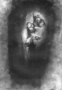 Josef Ofer | Untitled 126 | 2017 | Ink on paper | 29.7x21cm