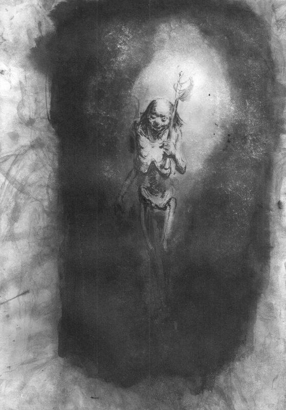 Josef Ofer   Untitled 153   2017   Ink on paper 29.7x21cm
