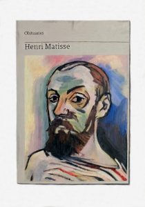 Hugh Mendes | Obituary: Henri Matisse | 2018 | Oil on linen | 35x25cm