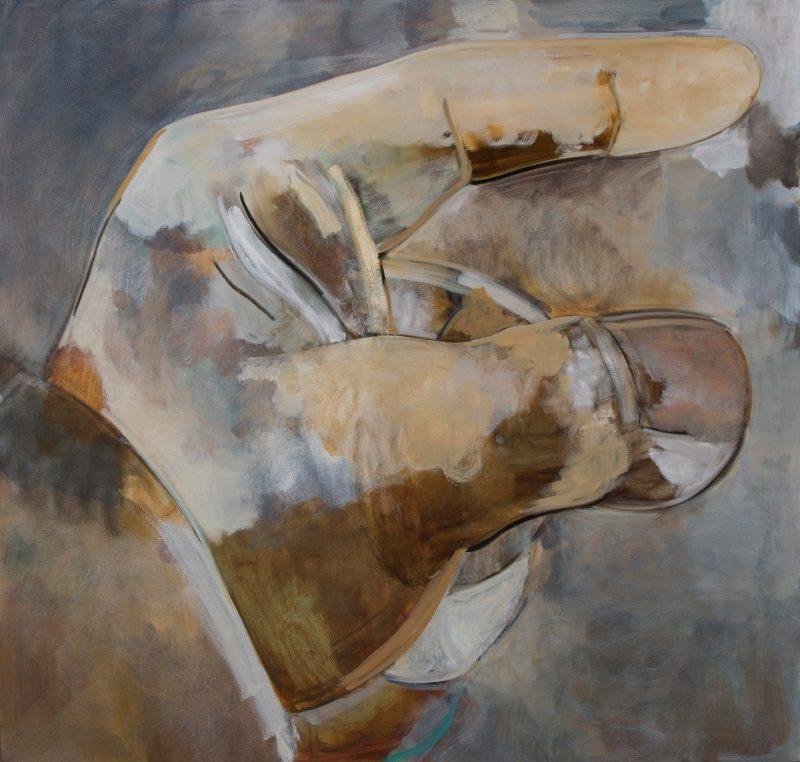Peter Ashton Jones | Blind Man's Buff | 2018 | Oil on canvas | 101x107cm