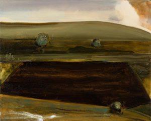 Peter Ashton Jones | The Dark Field | 2018 | Oil on canvas | 41x52cm