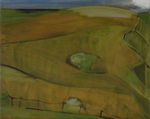 Peter Ashton Jones | The Fence | 2018 | Oil on canvas | 41x52cm