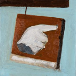 Peter Ashton Jones | The Glove | 2018 | Oil on canvas | 24x24cm