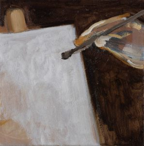 Peter Ashton Jones | The Hand | 2018 | Oil on canvas | 24x24cm