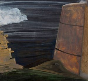 Peter Ashton Jones | The Keep | 2018 | Oil on canvas | 46x50cm