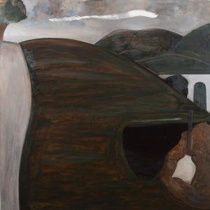 Peter Ashton Jones | The Roll Up | 2018 | Oil on canvas | 148x148cm