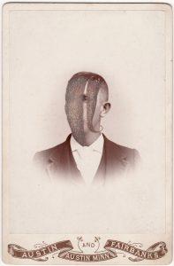 Tom Butler   Austin   2018   Gouache on Albumen print   16.5×10.8cm
