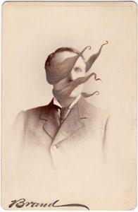 Tom Butler   Brand   2018   Gouache on Albumen print   16.5×10.8cm
