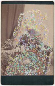Tom Butler | Gilda | 2018 | Gouache on Albumen print | 16.5x10cm