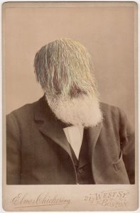 Tom Butler | (Ten Elmers) Hairy Elmer | 2018 | Gouache on Albumen print | 16.5×10.8cm