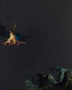 Emma Bennett | When light fell | 2018 | Oil on oak panel | 25x20cm