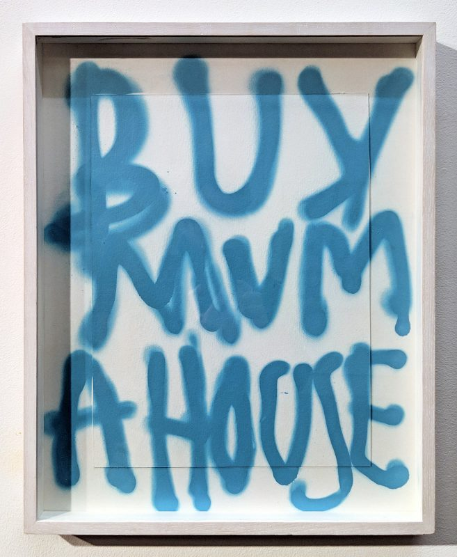 Thomas Langley | Mummy's Boy Blue (Spray it loud edition) | 2018 | Spray paint on paper | 51.5×41.5cm