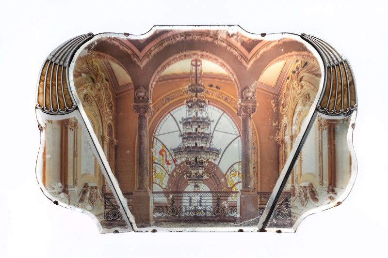 Gina Soden | Casino on Bakelite Mirror | 2019 | Photograph hand printed onto antique bakelite mirror with acrylic seal | 74x48cm