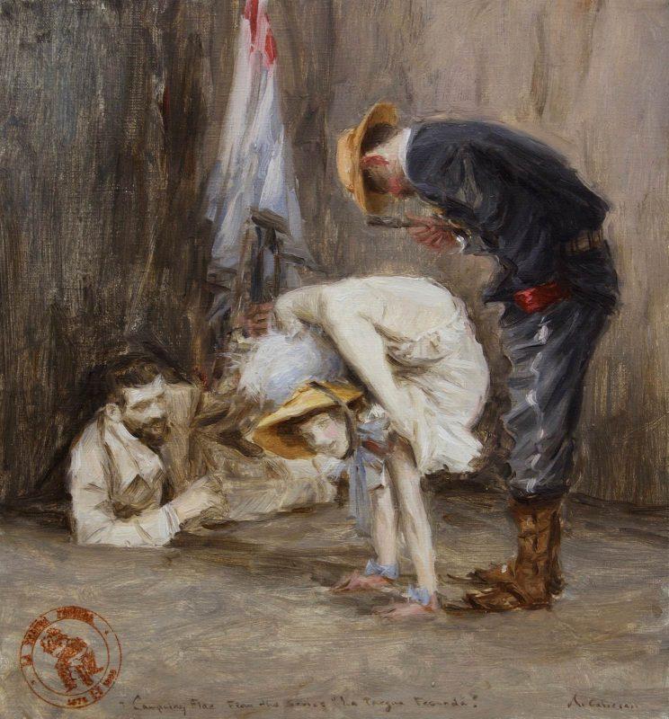 Ariel Cabrera Montejo | Costumbres de la Guerra Fecunda | 2016 | Oil on linen | 35.5x33cm
