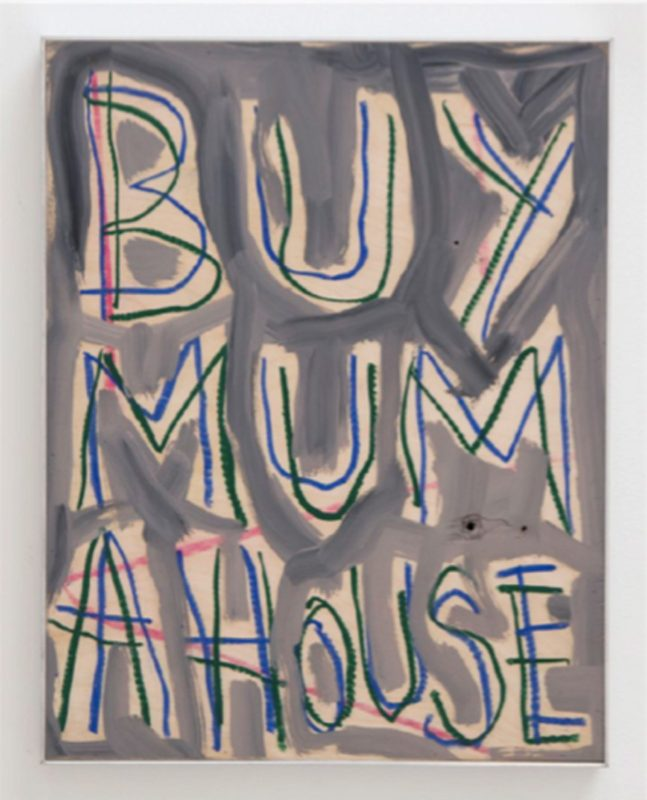 Thomas Langley | Mummy's Boy | 2018 | Oil on birch ply | 50x39cm