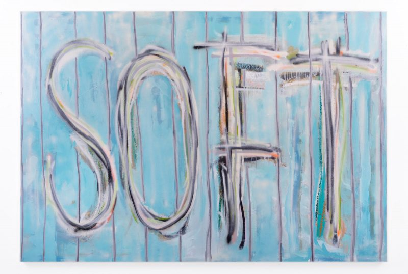 Thomas Langley | Soft (Sludge Puppy) | 2018 | Oil, spray paint on canvas | 150x220cm