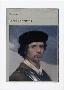 Hugh Mendes | Obituary: Carel Fabritius | 2019 | Oil on linen | 35x25cm