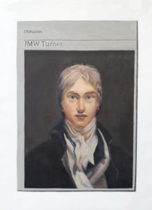 Hugh Mendes | Obituary: JMW Turner | 2019 | Oil on linen | 35x25cm