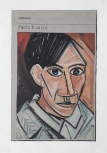 Hugh Mendes | Obituary: Pablo Picasso | 2019 | Oil on linen | 40x30cm