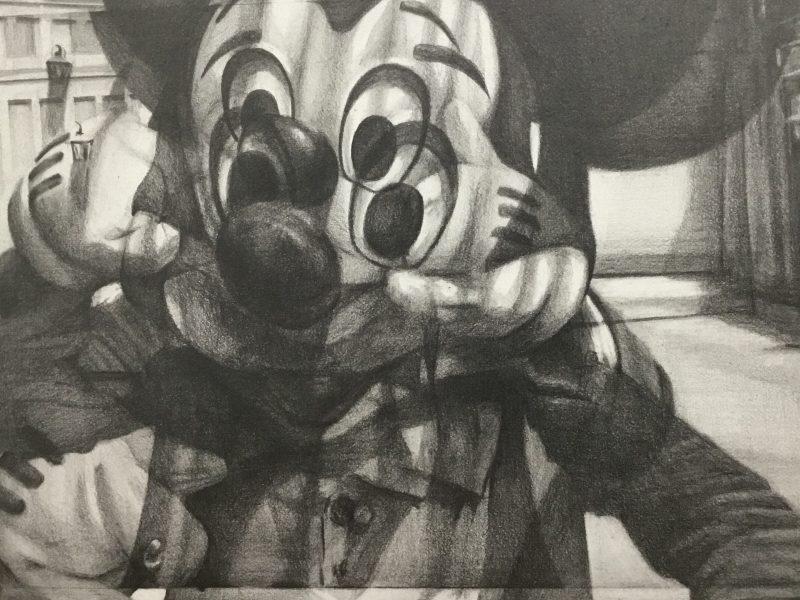 Susannah Douglas   Video Layer (Disney World)   Pencil on paper   13x19cm