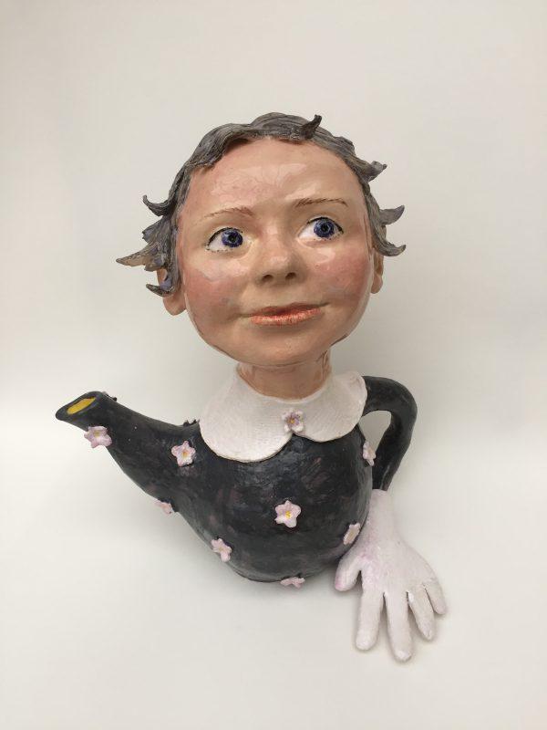 Wendy Mayer | Teapot with Glove | 2019 | Ceramic | 28(h)x24(w)x18(d)cm