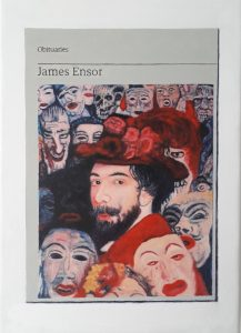 Hugh Mendes | Obituary: James Ensor | 2019 | Oil on linen | 35x25cm