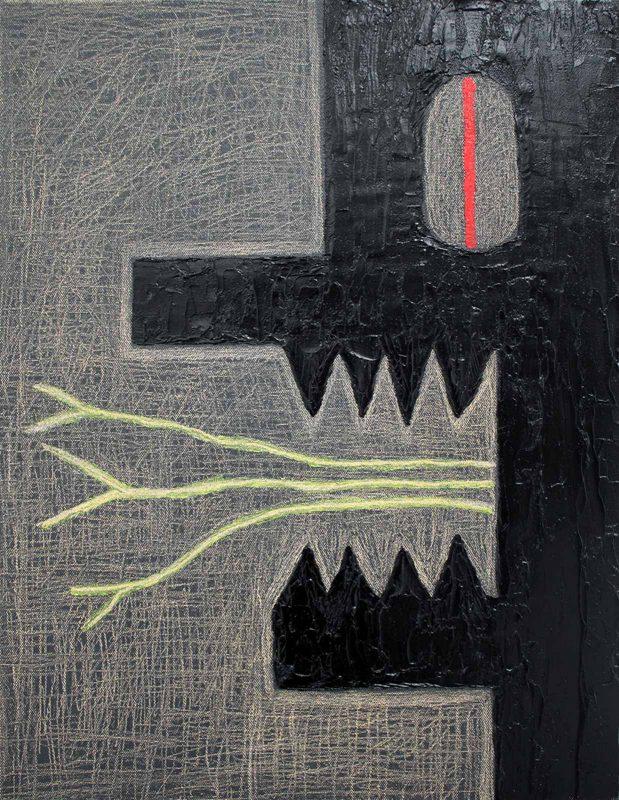 Alex Gene Morrison | Red Eye Green Tongues | 2018 | Oil on canvas | 45x35cm