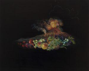 Emma Bennett | Forcella | 2019 | Oil on oak panel | 20x25cm