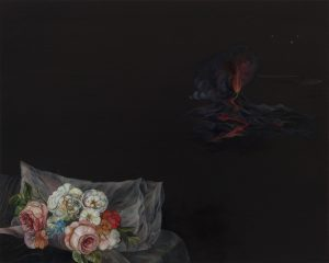 Emma Bennett | Of Wantonness | 2019 | Oil on oak panel | 20x25cm