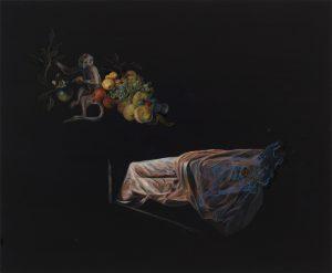 Emma Bennett | Our Nature | 2019 | Oil on oak panel | 28x34cm