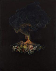 Emma Bennett | The Skirmish | 2019 | Oil on canvas | 50x40cm