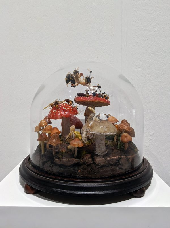 Tessa Farmer | The Fairy Ring | 2018 | Polymer clay, insects, bones, plant roots, wormshells, snail shells, hedgehog spines | 40cm(h)x30cm(d)