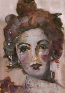 Sam Jackson | You said Something, I've Never Forgotten | 2019 | Oil, marker, pencil on board | 32×22.5cm
