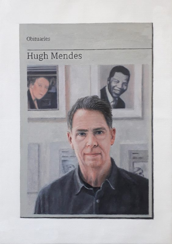 Hugh Mendes | Obituary : Hugh-Mendes | 2019 | Oil on linen | 35x25cm