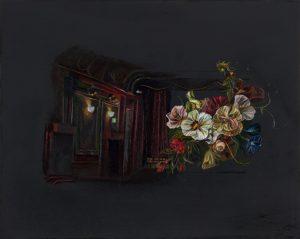 Emma Bennett | Scenes like these (Palace) | 2018 | Oil on oak panel | 20x25cm