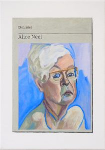 Hugh Mendes | Obituary: Alice Neel | 2019 | Oil on linen | 35x25cm