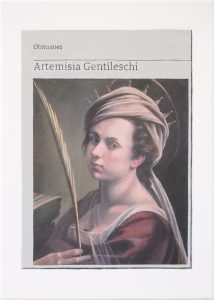 Hugh Mendes | Obituary: Artemisia Gentileschi | 2019 | Oil on linen | 35x25cm