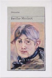 Hugh Mendes | Obituary: Berthe Morisot | 2019 | Oil on linen | 30x20cm