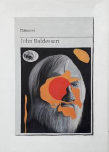 Hugh Mendes | Obituary: John Baldessari | 2020 | Oil on linen | 35x25cm