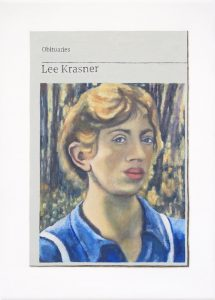 Hugh Mendes | Obituary: Lee Krasner | 2019 | Oil on linen | 35x25cm