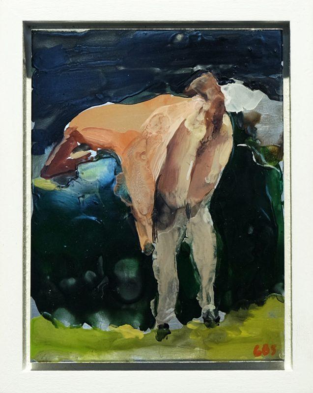 Geraldine Swayne | Naughty Lola | 2015 | Enamel on aluminium (framed) | 10.1x7cm