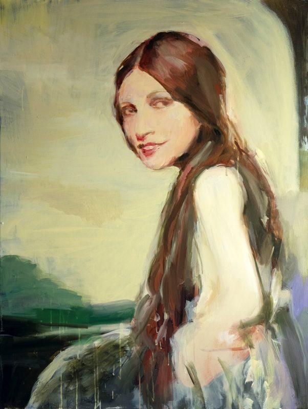 Geraldine Swayne | Naples Yellow | 2020 | Oil & acrylic on canvas | 102x76cm