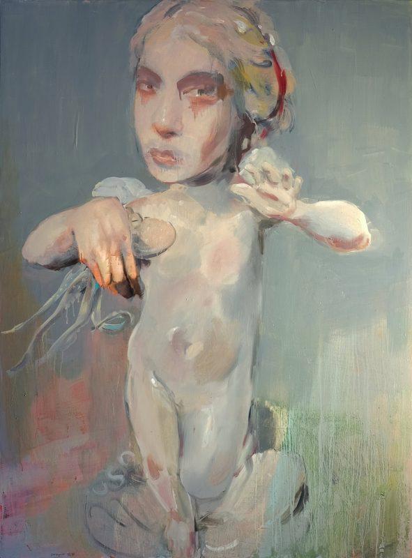 Geraldine Swayne | Shared Ancestor | 2020 | Oil & acrylic on board | 122x90cm