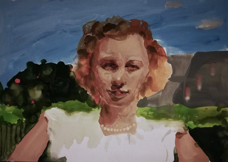 Geraldine Swayne | Brilliant Day | 2020 | Enamel on canvas | 30x42cm