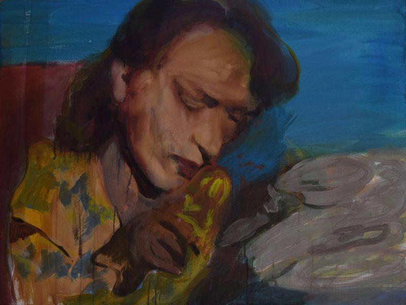 Geraldine Swayne | Electronica | 2020 | Oil, acrylic, on canvas | 76x101cm