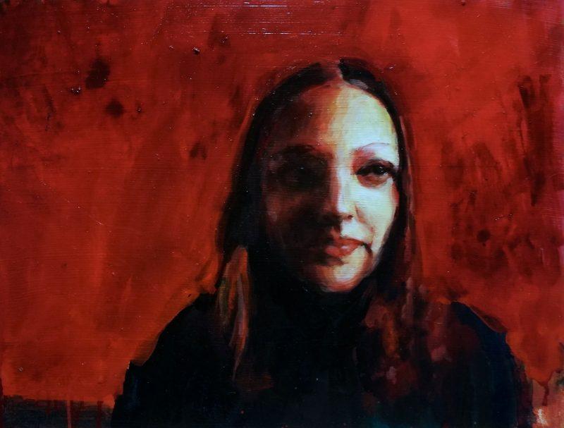 Geraldine Swayne | I hope not no.2 | 2020 | Enamel on board | 40x52cm