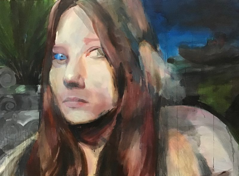 Geraldine Swayne | Intranaught | 2020 | Enamel, acrylic, on board | 90x122cm