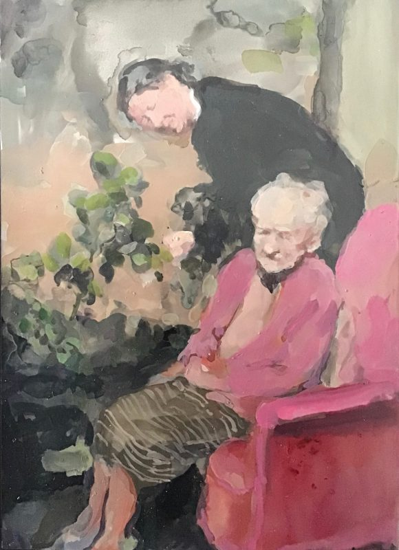 Geraldine Swayne | Rose Garden | 2019 | Enamel on aluminium | 30.5×25.5cm (framed)