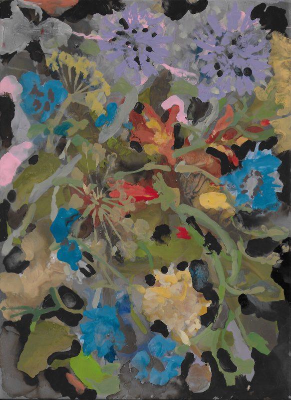 Geraldine Swayne | Women in the plants | 2019 | Enamel on aluminium | 30.5x25cm (framed)
